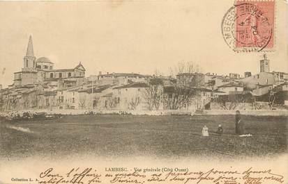 """CPA FRANCE 13 """"Lambesc, vue générale, côté ouest"""""""