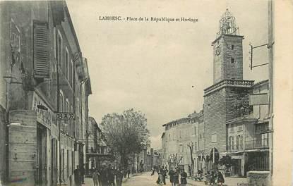 """CPA FRANCE 13 """"Lambesc, Place de la République"""""""