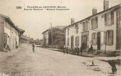 """/ CPA FRANCE 51 """"Villers en Argonne, rue de Chalons, maison Jacquemet"""""""