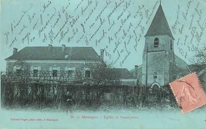 "CPA FRANCE 72 ""Mansigne, Eglise et Presbytère"""