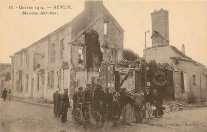 """CPA FRANCE 60 """"Senlis, maisons détruites"""""""