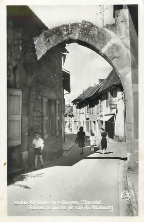 """/ CPSM FRANCE 73 """"Saint Genix sur Guiers, ancienne porte et rue du Faubourg"""""""