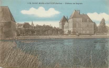 """CPA FRANCE 72 """"Saint Mars d'Outillé, chateau de Segrais"""""""