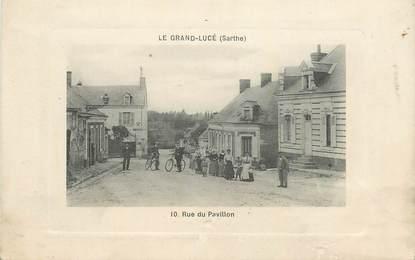 """CPA FRANCE 72 """" Le Grand Lucé, rue du Pavillon"""""""
