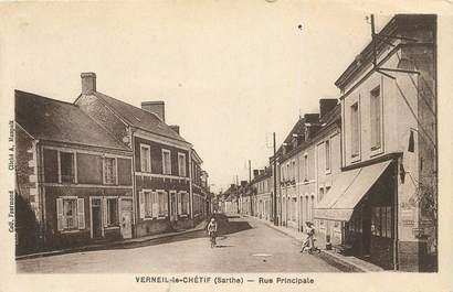 "CPA FRANCE 72 "" Verneil le Chétif, rue principale"""