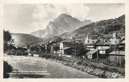 """/ CPSM FRANCE 73 """"Saint Michel de Maurienne, l'Arc et le perrons des encombres"""""""