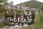 """12 Aveyron CPSM FRANCE 12 """"Saint Geniez d'Olt, groupe folklorique Lus Tournejaires"""""""