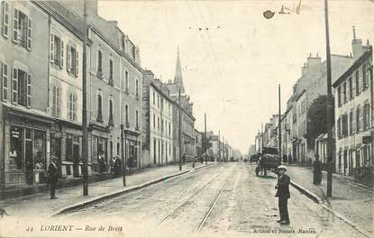 """CPA FRANCE 56 """"Lorient, rue de Brest"""""""