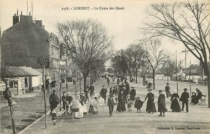 """CPA FRANCE 56 """"Lorient, le cours des quais"""""""