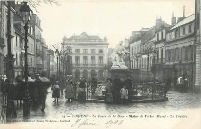 """CPA FRANCE 56 """"Lorient, Le Cours de la Bove"""""""