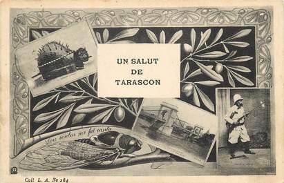 """CPA FRANCE 13 """"Un Salut de Tarascon"""""""