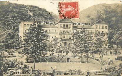 """CPA FRANCE 07 """"Vals les Bains, grand hotel des Bains"""""""