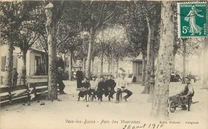 """CPA FRANCE 07 """"Vals les Bains, Parc des Vivaraises"""""""
