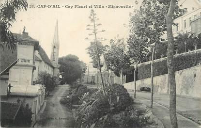 """/ CPA FRANCE 06 """"Cap d'Ail, cap fleuri et villa Mignonette"""""""