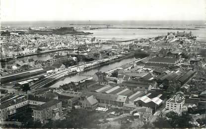 """CPSM FRANCE 50 """"Cherbourg, Panorama sur l'avant Port et la gare maritime"""""""