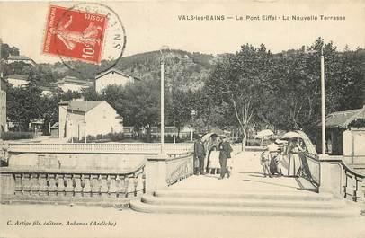 """CPA FRANCE 07 """"Vals les Bains, le pont Eiffel"""""""