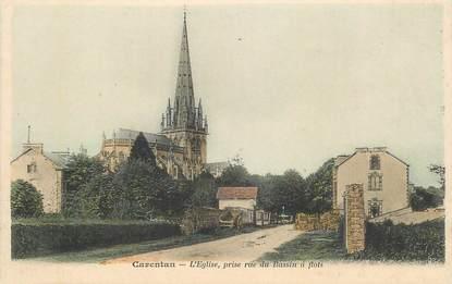 "CPA FRANCE 50 ""Carentan, Eglise prise rue du Bassin à flots"""
