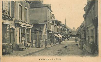 """CPA FRANCE 50 """"Carentan, rue de l'Horloge"""""""