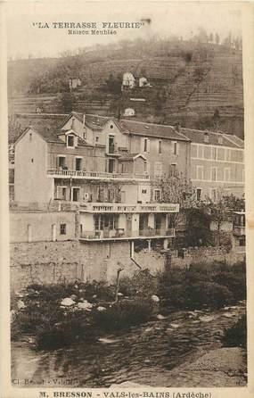 """CPA FRANCE 07 """"Vals les Bains, La Terrasse fleurie"""""""