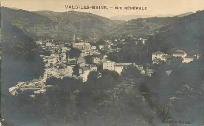 """CPA FRANCE 07 """"Vals les Bains, vue générale"""""""