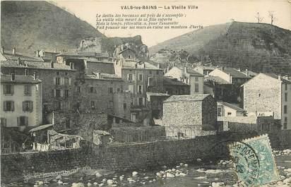 """CPA FRANCE 07 """"Vals les Bains, la vieille ville"""""""