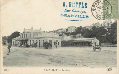 """CPA FRANCE 50 """"Granville,  la gare"""""""