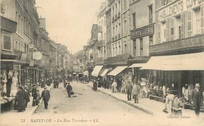 """CPA FRANCE 50 """"Saint Lo, la Rue Tortenon"""""""