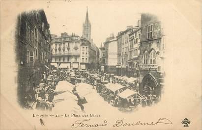"""CPA FRANCE 87 """"Limoges, Place des Bancs"""""""