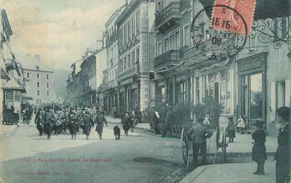 "/ CPA FRANCE 05 ""Gap, rue Carnot"" / MILITAIRE"
