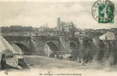 """CPA FRANCE 87 """"Limoges, le Pont Saint Etienne"""""""
