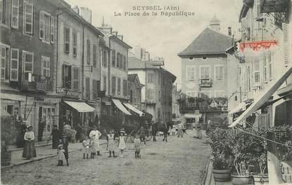 """/ CPA FRANCE 01 """"Seyssel, la place de la République"""""""