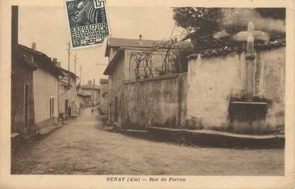 "/ CPA FRANCE 01 ""Genay, rue du Perron"""