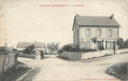 "/ CPA FRANCE 03 ""Bourbon l'Archambault, villa Bellevue"""