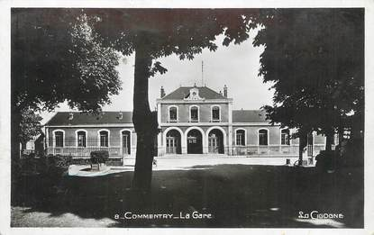 "/ CPSM FRANCE 03 ""Commentry, la gare"""