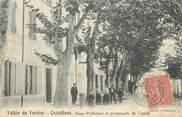 """04 Alpe De Haute Provence / CPA FRANCE 04 """"Castellane, sous préfecture et promenade du cours"""""""