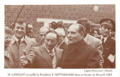 "CPA FRANCE 59 ""Ligny Haucourt, Psdt F. Mitterand, 1983"""