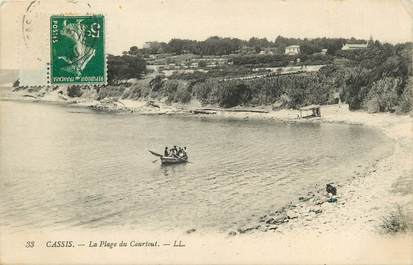 """CPA FRANCE 13 """"Cassis, la plage du Courtout"""""""