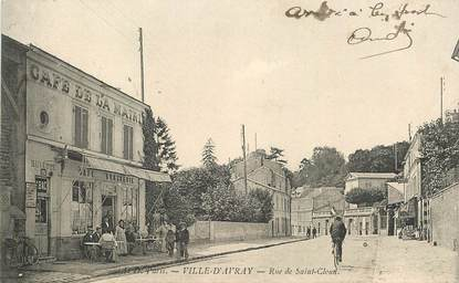 """CPA FRANCE 92 """"Ville d'Avray, la rue de Saint Cloud"""""""