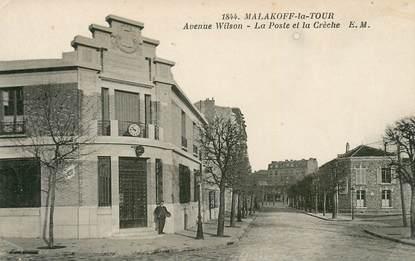 """CPA FRANCE 92 """"Malakoff la Tour, avenue Wilson, la Poste"""""""