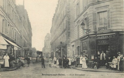 """/ CPA FRANCE 92 """"Boulogne sur Seine, Rue Escudier"""""""