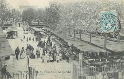 """/ CPA FRANCE 92 """"Boulogne sur Seine, le marché"""""""