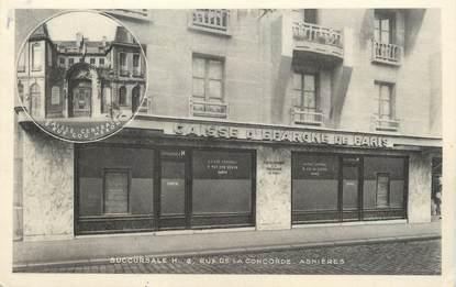 """/ CPA FRANCE 92 """"Asnières, caisse d'épargne"""" / CE / BANQUE"""
