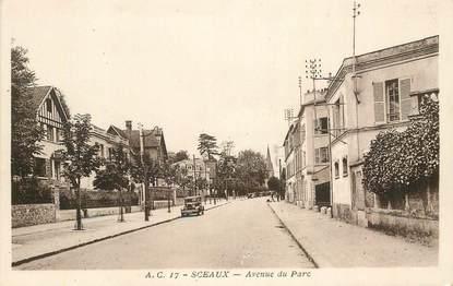 """CPA FRANCE 92 """"Sceaux, avenue du Parc"""""""