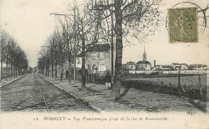 """CPA FRANCE 93 """"Bobigny, vue panoramique prise de la rue de Romainville"""""""