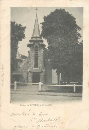 "CPA FRANCE 93 ""Gournay sur Marne, Eglise"""