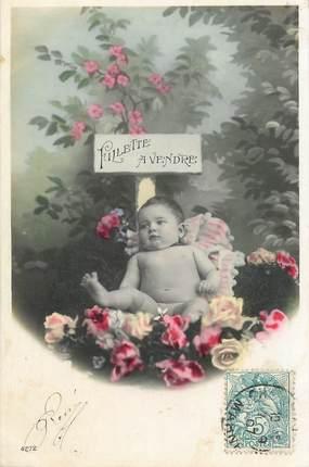 CPA NU  /  ENFANT /  Fillette à vendre