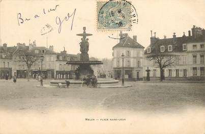 "CPA FRANCE 77 ""Melun, Place Saint Jean"""
