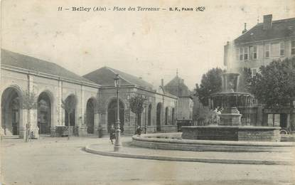 "/ CPA FRANCE 01 ""Belley, place des Terreaux"""