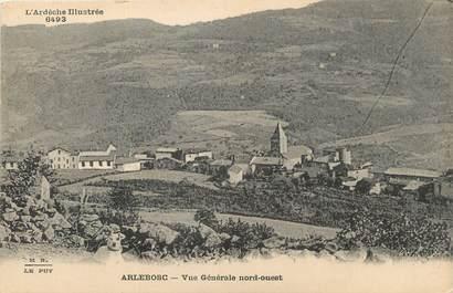 """/ CPA FRANCE 07 """"Arlebosc, vue générale nord Ouest"""""""