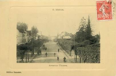 "CPA FRANCE 77 ""Melun, avenue Thiers"""